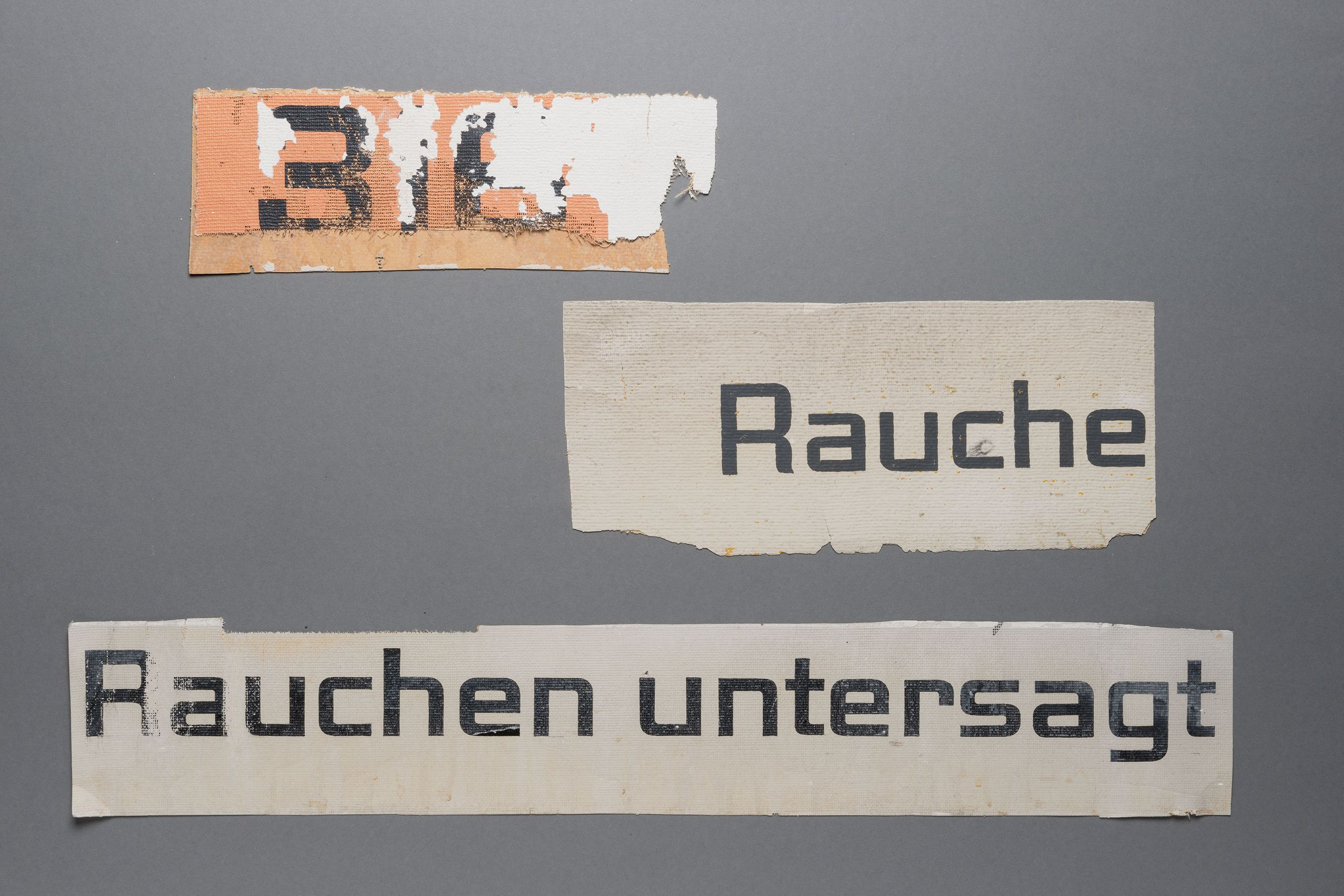Samples of the original type face created by Ernst Keller